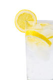 Sparkling ice water with slices of lemon Royalty Free Stock Image