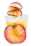 Sparkling Iced Plum Flavor Drink Stock Image