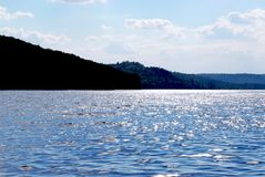 Sparkling lake Royalty Free Stock Photography