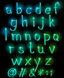 Sparkling letters of the alphabet Stock Photography