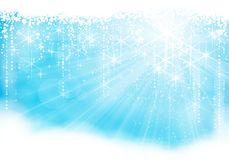 Sparkling Light Blue Christmas / Winter Theme Royalty Free Stock Image