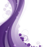 Sparkling lilac floral  background Royalty Free Stock Photo