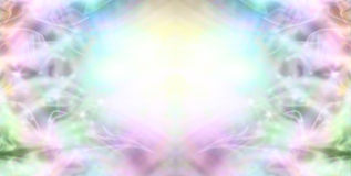 Sparkling Milky Wispy Border Background Royalty Free Stock Photo