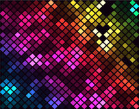 Sparkling Mosaic. A vibrant colorful mosaic pattern made of rectangular tiles to use as background, texture, print, for web as well or for other many uses Stock Photo