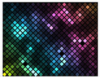 Sparkling Mosaic. A vibrant colorful mosaic pattern made of rectangular tiles to use as background, texture, print, for web as well or for other many uses Stock Photography