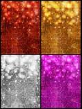 Sparkling mosaic backgrounds set Stock Images