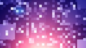 Sparkling Mosaic Small Squares Background. An optimistic 3d illustration of small shining blue and white squares in the black background. They compose some funny Stock Photo