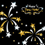 Sparkling New Year`s Eve background Stock Photography