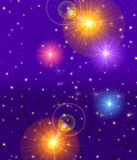 Sparkling night sky. An illustration of a colorful night sky with vivid stars Royalty Free Stock Images