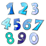 Sparkling numbers Royalty Free Stock Image