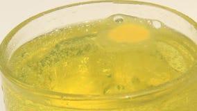 Sparkling orange juice stock footage