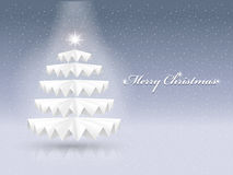 Sparkling paper Christmas tree Stock Images