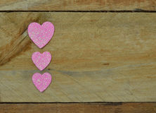 Sparkling pink hearts for Valentine's Day Stock Photo