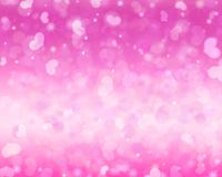 Sparkling pink Valentine`s Day background. Pink Valentine`s Day background with bokeh and sparkle vector illustration