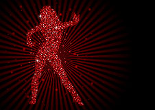 Sparkling Pixels Dancing Woman Royalty Free Stock Images