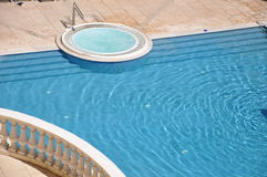 Sparkling pool and spa Stock Image