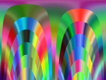 Abstract blue purple yellow orange green rainbow colors, vivid geometries, colorful bright texture and design. Sparkling purple green white yellow white orange royalty free illustration