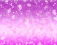 Sparkling purple Valentine`s Day background. stock photos