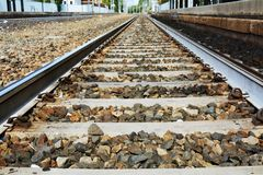 Sparkling railway track stock photography