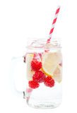 Sparkling Raspberry Lemon Water Stock Images
