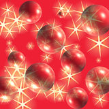 Sparkling red balls Stock Images