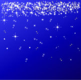 Sparkling red christmas background illustration. Stock Photography
