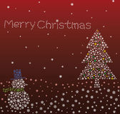Sparkling  Red Christmas Royalty Free Stock Images