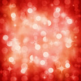 Sparkling red Christmas party lights background stock images