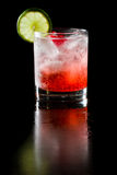 Sparkling red cocktail Stock Image