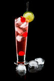 Sparkling red cocktail Royalty Free Stock Images