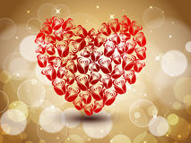 Sparkling red heart shape Royalty Free Stock Photos