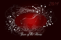 Sparkling Red Horse 2014 Stock Photography