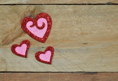 Sparkling red and pink hearts for Valentine's Day Stock Photo