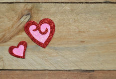 Sparkling red and pink hearts for Valentine's Day Royalty Free Stock Photo