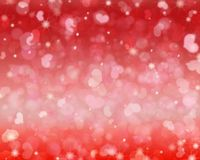 Sparkling red Valentine`s Day background. Red Valentine`s Day background with bokeh and sparkle stock illustration