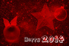 2014 sparkling red wallpaper. 2014 sparkling wallpaper in a red background Stock Illustration