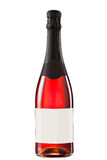 Sparkling red wine bottle. With blank label Stock Photography
