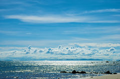 Sparkling Sea. Sparkling Sea with Cloudy Blue Sky. Koh Jum, Krabi Province, Thailand Royalty Free Stock Photography