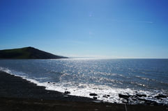 Sparkling sea in wales Stock Image