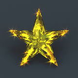 Sparkling shiny yellow star gemstone Stock Images