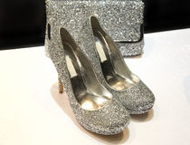 Sparkling shoes Stock Photos