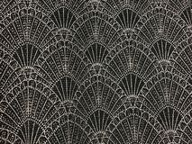 Beautiful silver and black glitter lace fabric texture for bacgr Royalty Free Stock Image