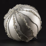 Sparkling silvery christmas ball, tree decoration Royalty Free Stock Images