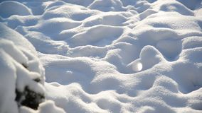 Sparkling snow on a sunny day stock footage