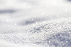 Sparkling snow Royalty Free Stock Image