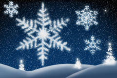 Sparkling Snowflakes Stock Images