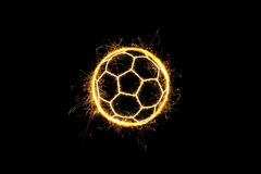 Sparkling soccer ball. Royalty Free Stock Images
