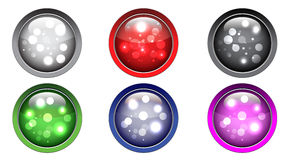 Sparkling Spheres - Buttons Royalty Free Stock Images