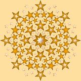 Sparkling Stars Royalty Free Stock Images