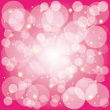 Sparkling stars bubbles on magenta background Stock Image